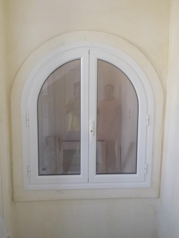 παράθυρο οβάλ αλουμινίου διπλό τζάμι
