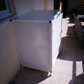 Κατασκευή ντουλάπας αλουμινίου για πλυντήριο σε μπαλκόνι