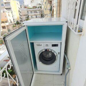 Ντουλαπα αλουμινιου για πλυντήριο